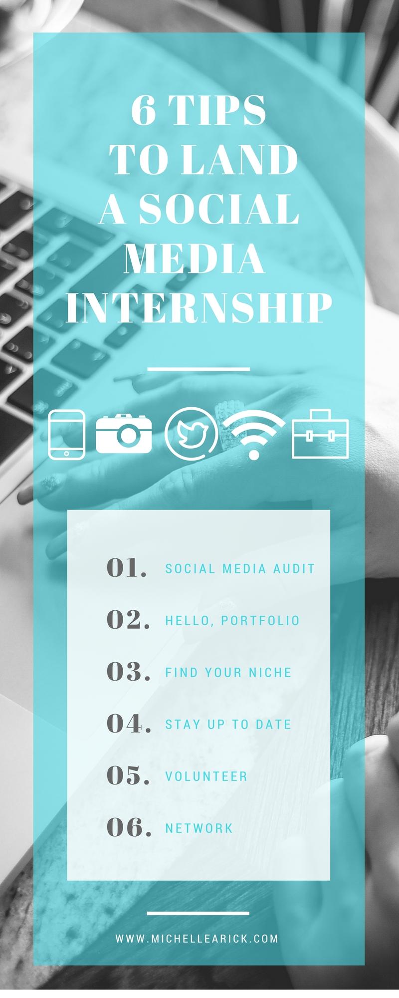 5 tips to land a social media internship