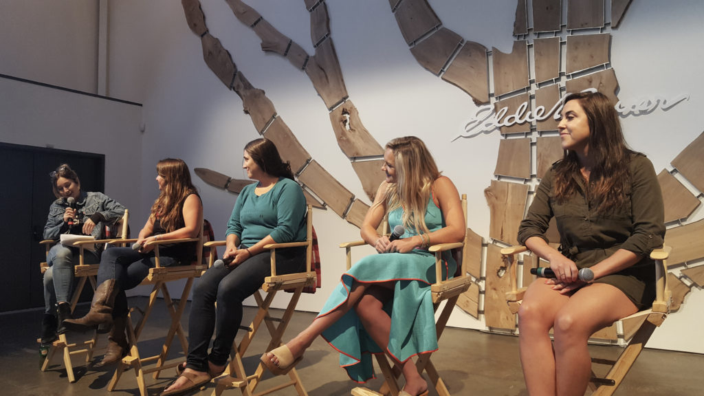 Panelists at the Create & Cultivate Eddie Bauer #LiveYourAdventure panel in San Francisco.