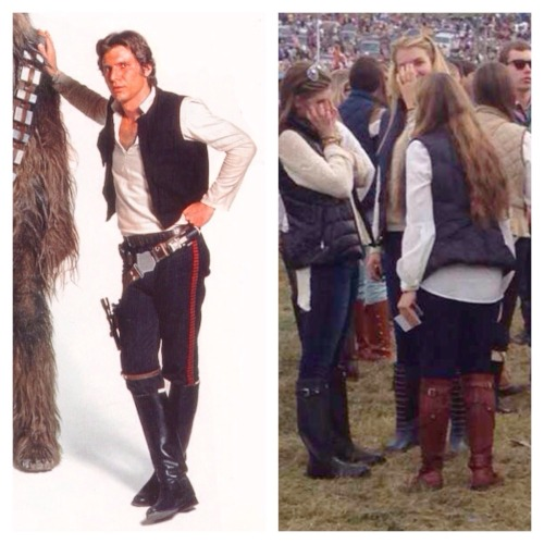 Han Solo season begins every fall with basic girl fashion.