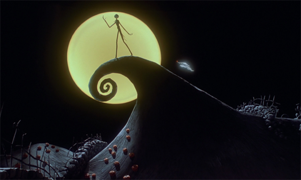 A still from Tim Burton's animated classic The Nightmare Before Christmas.